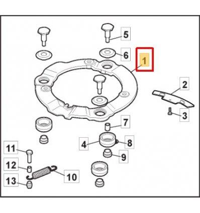 STIGA Avvibreringsring gul TwinClip 381207230/0  - 1