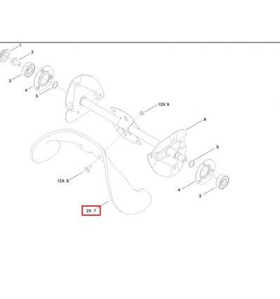 TORO Rotorblad Gummi PowerLite 117-7700 - 1