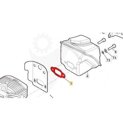 STIGA Ljuddämparpackning SP466, SP526, 118804618/0 - 1